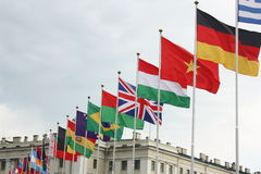 Fila de banderas Fotos de archivo libres de regalías