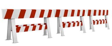 Fila de barricadas Fotografía de archivo