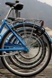 Fila de bicicletas Imagen de archivo libre de regalías