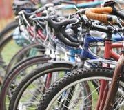 Fila de bicis Foto de archivo libre de regalías