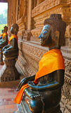 Fila de Buda Imagenes de archivo