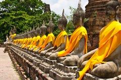 Fila de Buddha sagrado Imagen de archivo