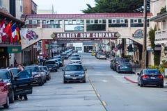 Fila de Canery, Monterey imagenes de archivo
