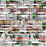 Fila de carros de la compra en supermercado ilustración del vector