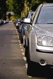Fila de coches Fotografía de archivo