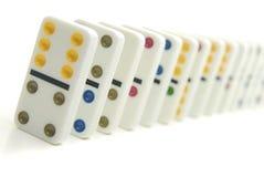 Fila de dominós Fotografía de archivo libre de regalías