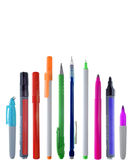 Fila de inmóvil colorido Fotografía de archivo libre de regalías