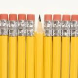 Fila de lápices. Imagen de archivo libre de regalías