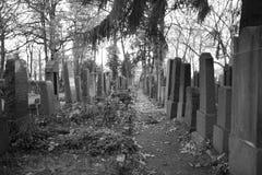 Fila de lápidas mortuarias Imágenes de archivo libres de regalías