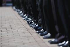 Fila de la bota de cadetes Foto de archivo