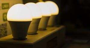 fila de la lámpara del LED fotografía de archivo