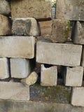Fila de ladrillos Foto de archivo libre de regalías