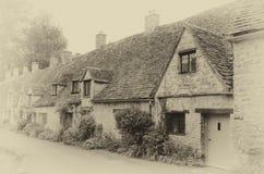 Fila de las cabañas de Cotswold Fotografía de archivo