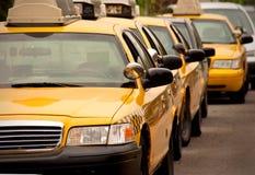 Fila de las casillas de taxi Fotografía de archivo libre de regalías