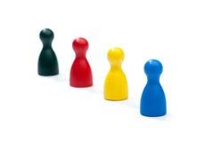 Fila de las figuras coloreadas multi del juego Imagen de archivo libre de regalías