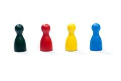 Fila de las figuras coloreadas multi del juego Imágenes de archivo libres de regalías