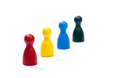 Fila de las figuras coloreadas multi del juego Foto de archivo