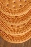 Fila de las galletas Imagenes de archivo