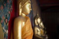Fila de las imágenes de Buddha Foto de archivo