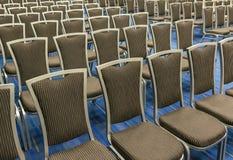 Fila de las sillas Foto de archivo