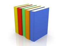 Fila de libros coloreados Imagen de archivo libre de regalías