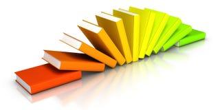 Fila de libros coloridos Imagen de archivo libre de regalías