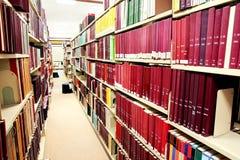 Fila de libros rojos Imagen de archivo libre de regalías