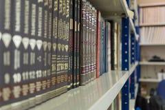 Fila de libros viejos fotografía de archivo libre de regalías