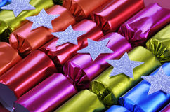 Fila de los bons festivos brillantes del bon de la galleta de la Navidad Imagenes de archivo