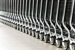 Fila de los carros de compras Imagen de archivo libre de regalías