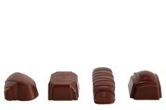 Fila de los chocolates de lujo 1 Fotografía de archivo