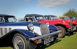 Fila de los coches de la pantera del vintage Fotos de archivo libres de regalías