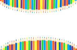 Fila de los lápices del color imagenes de archivo