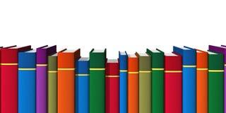 Fila de los libros del color Imagen de archivo