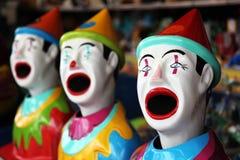 Fila de los payasos del carnaval Fotos de archivo