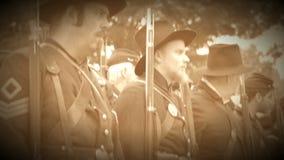 Fila de los soldados de la guerra civil de la unión (versión de la cantidad del archivo) metrajes