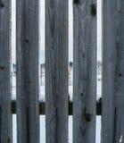 Fila de los tablones de la cerca Modelo de madera Fondo de madera Primer Foto de archivo libre de regalías
