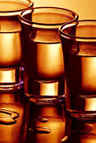 Fila de los tiros de la bebida Imagen de archivo libre de regalías