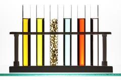 Fila de los tubos de prueba Fotografía de archivo libre de regalías