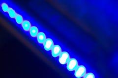Fila de luces llevadas Fotos de archivo libres de regalías