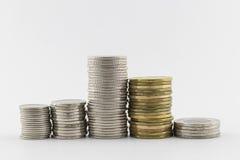 Fila de monedas fotos de archivo libres de regalías