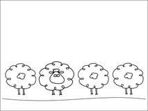 Fila de ovejas ilustración del vector