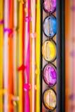 Fila de piedra colorida Fotografía de archivo