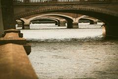 Fila de puentes Foto de archivo