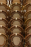 Fila de sillas Fotos de archivo