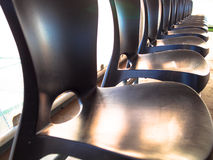 Fila de sillas Imágenes de archivo libres de regalías