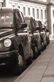 Fila de taxi Fotografía de archivo libre de regalías