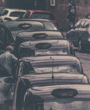 Fila de taxi en Londres Fotografía de archivo
