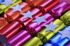 Fila dei bons festivi brillanti di Bon del cracker di Natale Immagini Stock