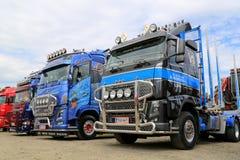 Fila dei camion di manifestazione ad una riunione del camion Immagine Stock Libera da Diritti